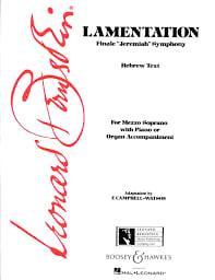 Lamentation BERNSTEIN Partition Mélodies - laflutedepan