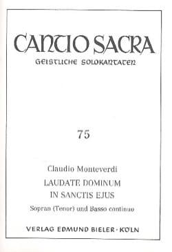 Laudate Dominum In Sanctis Ejus MONTEVERDI Partition laflutedepan