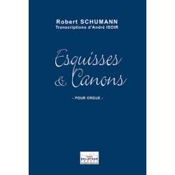 Esquisses et Canons SCHUMANN Partition Orgue - laflutedepan