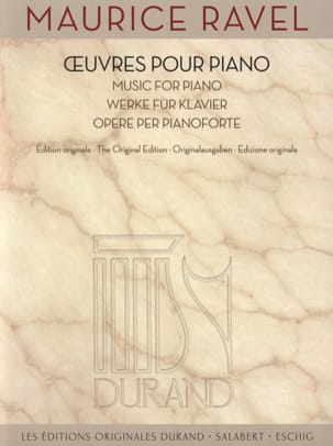 Oeuvres pour piano RAVEL Partition Piano - laflutedepan