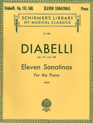 11 Sonatines Opus 151 et 168 DIABELLI Partition Piano - laflutedepan