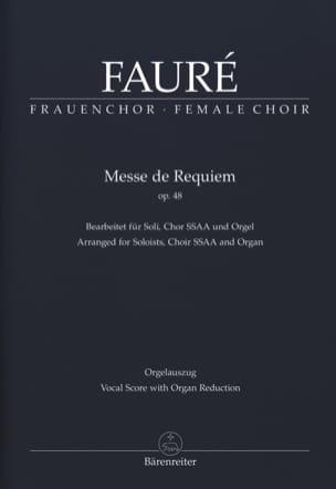 Requiem Opus 48. SSAA FAURÉ Partition Chœur - laflutedepan