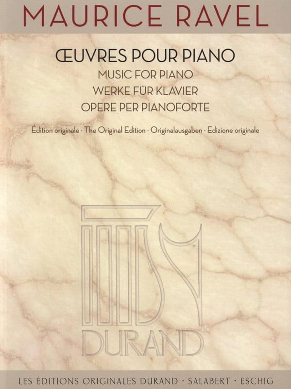 Oeuvres pour piano - RAVEL - Partition - Piano - laflutedepan.com