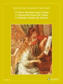 Pièces Favorites MOZART Partition Piano - laflutedepan