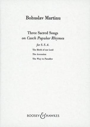 3 Sacred Songs On Czech Popular Rhymes MARTINU Partition laflutedepan