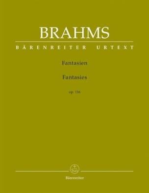 Fantaisies Opus 116 BRAHMS Partition Piano - laflutedepan
