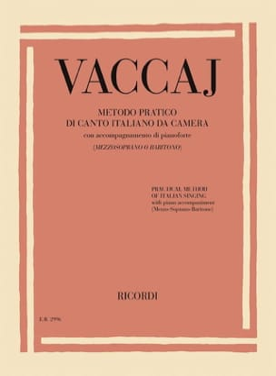 Méthode Pratique de Chant Italien Mezzo-Soprano-Baryton laflutedepan