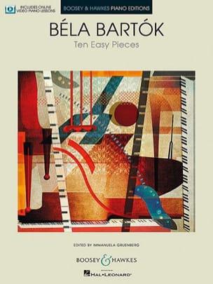 10 Easy Pieces Sz. 39 BARTOK Partition Piano - laflutedepan