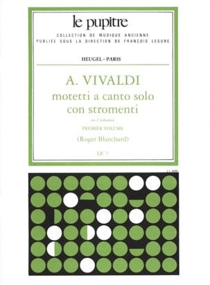 VIVALDI - Motetti A Solo Canto Con Stromenti Volume 1 - Partition - di-arezzo.co.uk