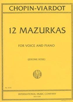 12 Mazurkas CHOPIN / VIARDOT Partition Mélodies - laflutedepan