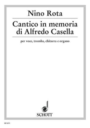 Cantico In Memoriam Di Alfredo Casella ROTA Partition laflutedepan