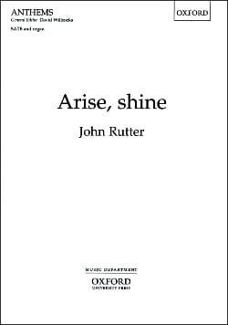 Arise, Shine Rutter Partition Chœur - laflutedepan