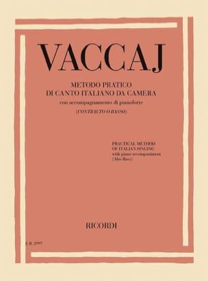 Méthode Pratique de Chant Italien. Voix grave laflutedepan