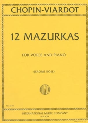 12 Mazurkas - CHOPIN / VIARDOT - Partition - laflutedepan.com