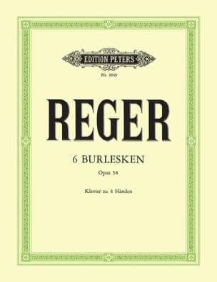 6 Burlesken Op. 58. 4 Mains Max Reger Partition Piano - laflutedepan