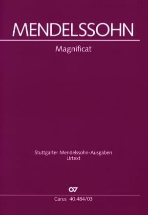 Magnificat - MENDELSSOHN - Partition - Chœur - laflutedepan.com