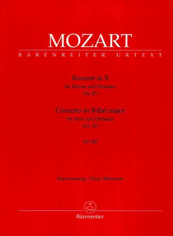 Concerto Pour Piano N° 27 En Si Bémol Majeur K 595 - laflutedepan.com
