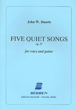 5 Quiet Songs Opus 37 John William Duarte Partition laflutedepan