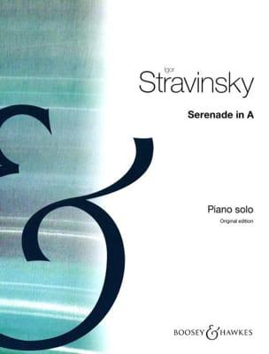 Sérénade En la Majeur STRAVINSKY Partition Piano - laflutedepan