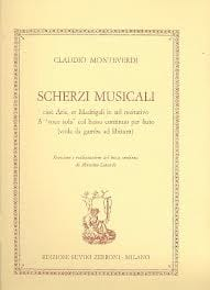 Scherzi Musicali MONTEVERDI Partition Luth - laflutedepan