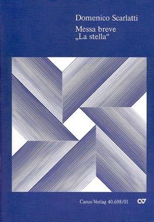 Messa breve La stella SCARLATTI Partition Chœur - laflutedepan