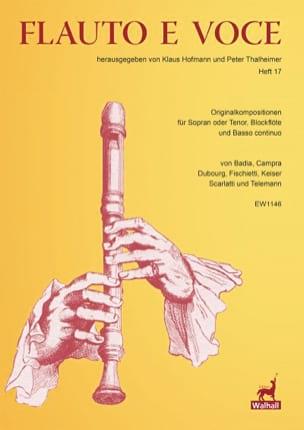 Flauto E Voce - volume 17 Partition Flûte à bec - laflutedepan