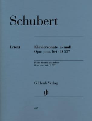 Sonate pour piano en la mineur Opus Posth. 164. D 537 laflutedepan