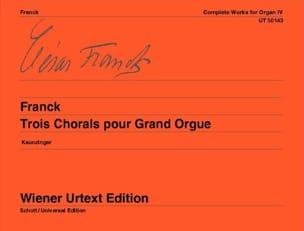 3 Chorals Pour Grand Orgue FRANCK Partition Orgue - laflutedepan