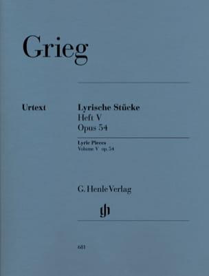 Lyrische Stücke Heft 5 Opus 54 GRIEG Partition Piano - laflutedepan