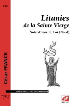 Litanies de la Sainte Vierge FRANCK Partition Chœur - laflutedepan