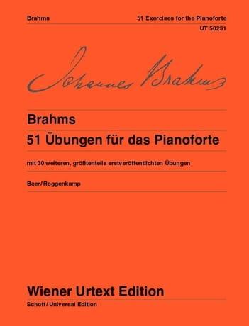 51 Ubungen - BRAHMS - Partition - Piano - laflutedepan.com