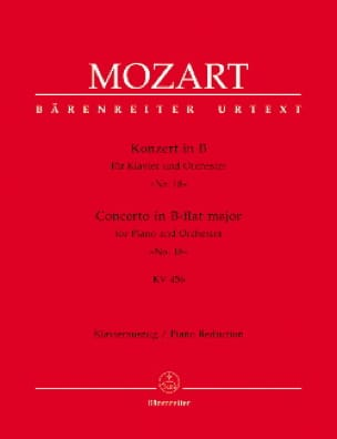 Concerto Pour Piano N° 18 En Si Bémol Majeur K 456 - laflutedepan.com
