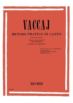 Metodo Pratico. Voix Grave Nicola Vaccai Partition laflutedepan