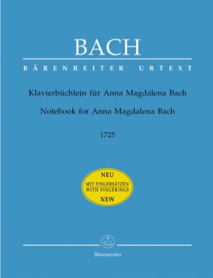 Klavierbüchlein Für Anna Magdalena Bach BACH Partition laflutedepan