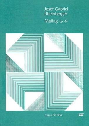 Maitag Op. 64 RHEINBERGER Partition Chœur - laflutedepan