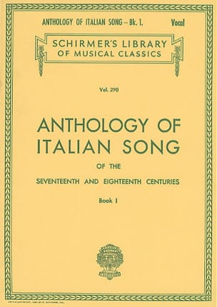 Anthology Of Italian Song Volume 1 Partition Mélodies - laflutedepan