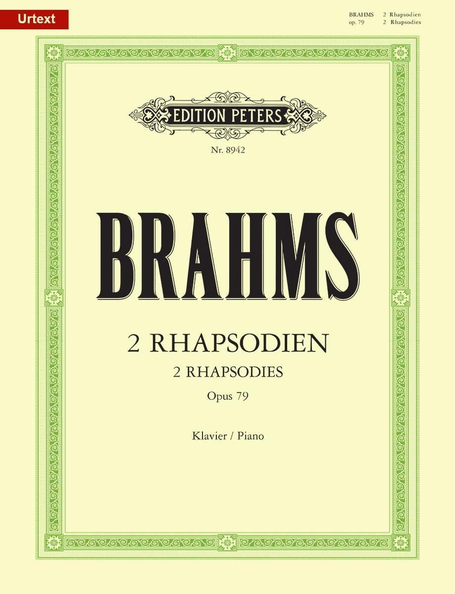 2 Rhapsodies Opus 79 - BRAHMS - Partition - Piano - laflutedepan.com