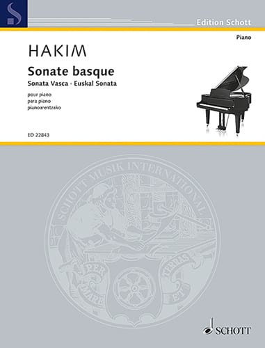 Sonate Basque - Naji Hakim - Partition - Piano - laflutedepan.com