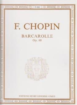 Barcarolle Opus 60 - CHOPIN - Partition - Piano - laflutedepan.com