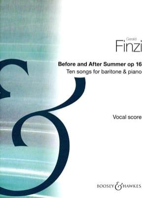 Before And After Summer Op. 16 Gerald Finzi Partition laflutedepan
