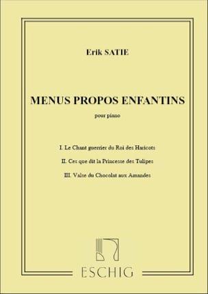Menus Propos Enfantins SATIE Partition Piano - laflutedepan