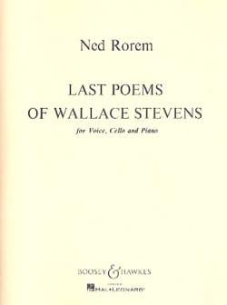 Last Poems Of Wallace Stevens Ned Rorem Partition laflutedepan