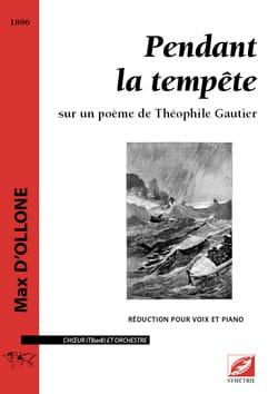 Pendant la tempête Max d' Ollone Partition Chœur - laflutedepan