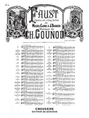 Ballade et Air des Bijoux. Faust GOUNOD Partition laflutedepan