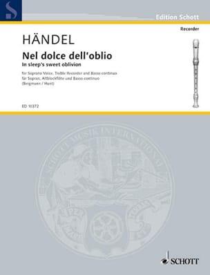 Nel Dolce Dell'oblio HAENDEL Partition Flûte à bec - laflutedepan