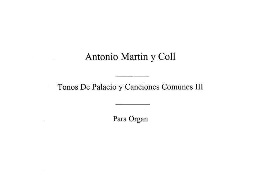 Tonos De Palacio Y Canciones Comunes - 3 - laflutedepan.com