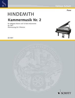 Kammermusik Nr. 2 Op. 36-1. 2 Pianos HINDEMITH Partition laflutedepan
