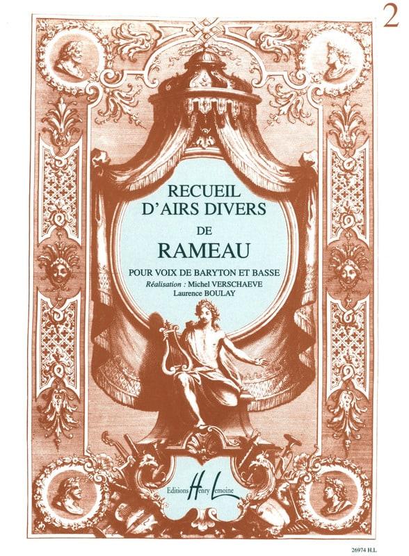 Recueil D'airs Divers. Baryton et Basse - RAMEAU - laflutedepan.com