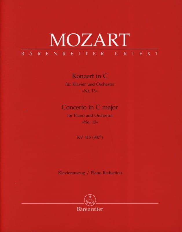 Concerto Pour Piano N° 13 En Do Majeur Kv 415 387b - laflutedepan.com