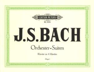 Suites Pour Orchestre. 4 Mains BACH Partition Piano - laflutedepan